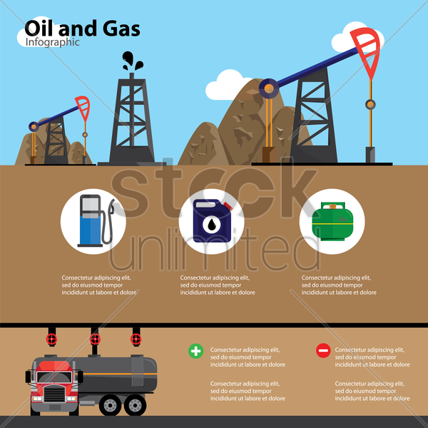 oil and gas infographic vector graphic