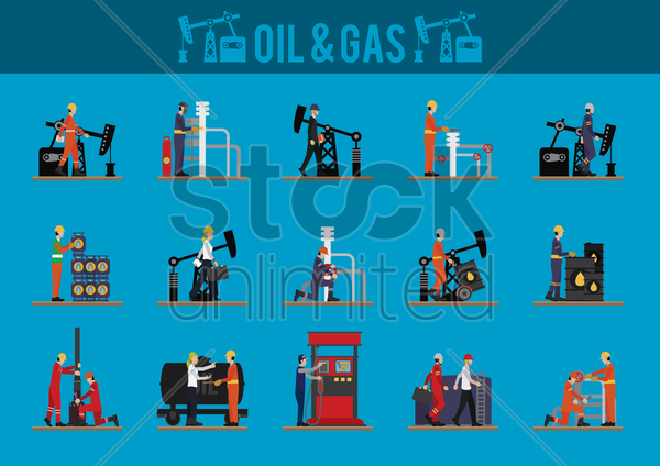 oil and gas vector graphic
