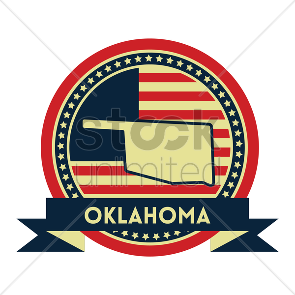 Free oklahoma map label vector graphic