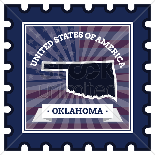 oklahoma postage stamp vector graphic