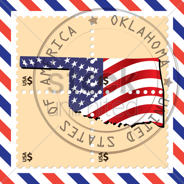 oklahoma stamp vector graphic