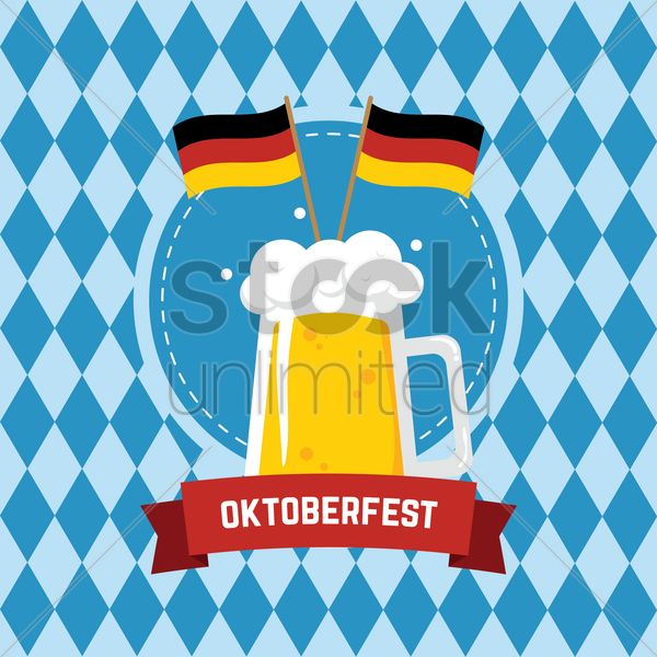 Free oktoberfest design vector graphic