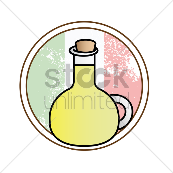 olive oil vector graphic