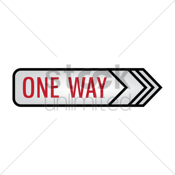 one way signboard vector graphic