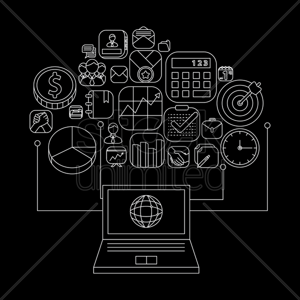 online business strategy concept vector graphic