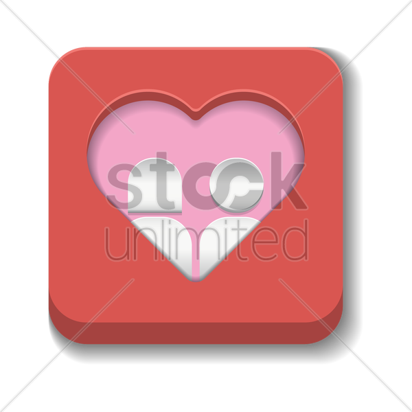 online dating icon vector graphic