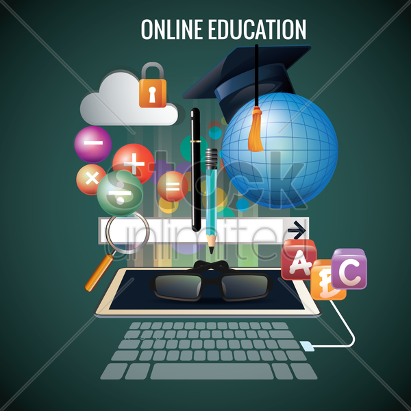 online education design vector graphic