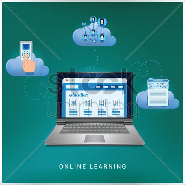 online learning vector graphic