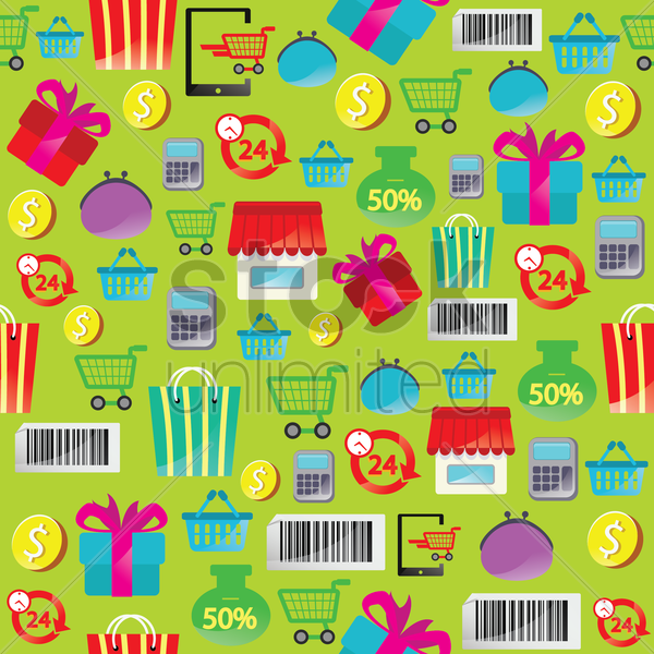 Free online shopping theme background vector graphic