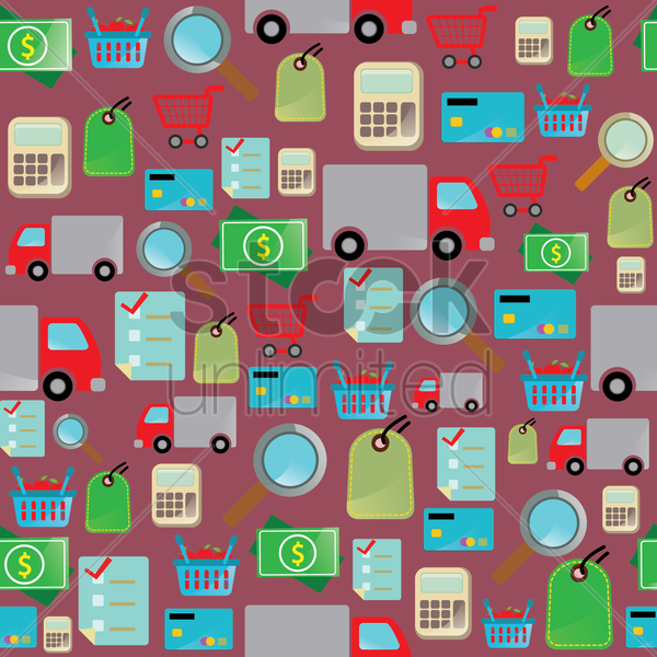 online shopping theme background vector graphic