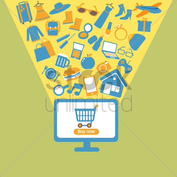 online shopping vector graphic