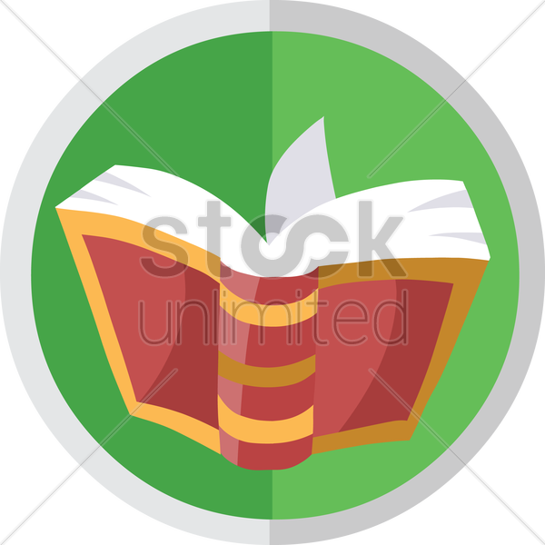 open book vector graphic