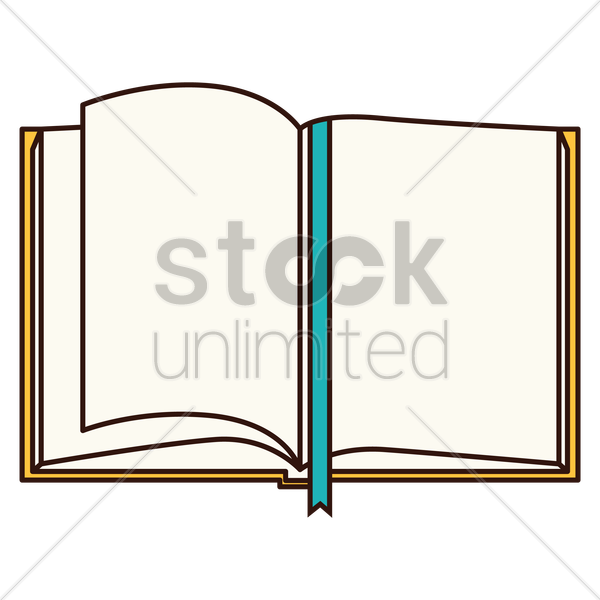 open bookmark vector graphic