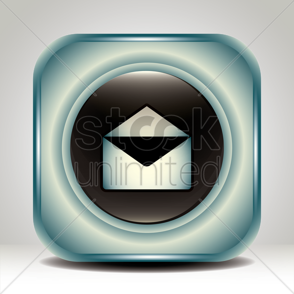 open mail icon vector graphic