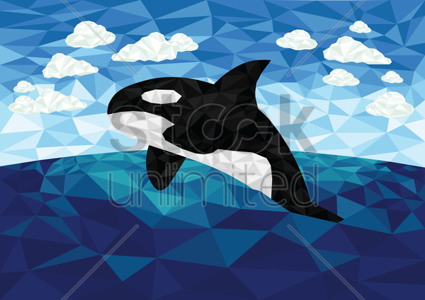 orca vector graphic