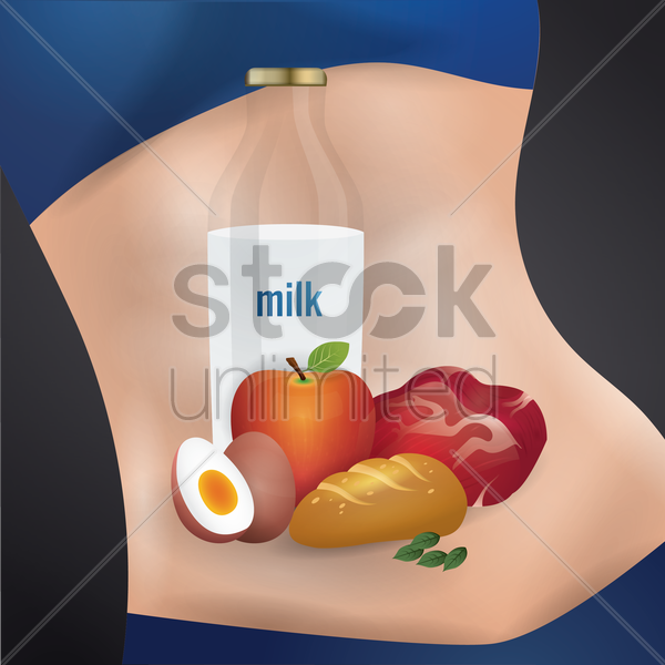 organic food vector graphic