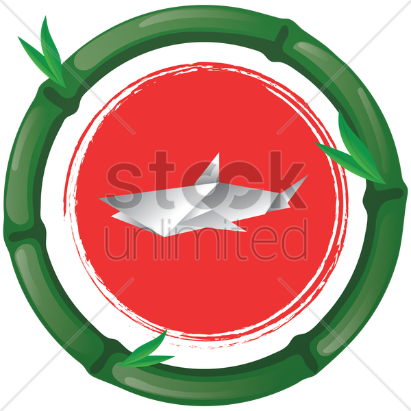 origami whale vector graphic