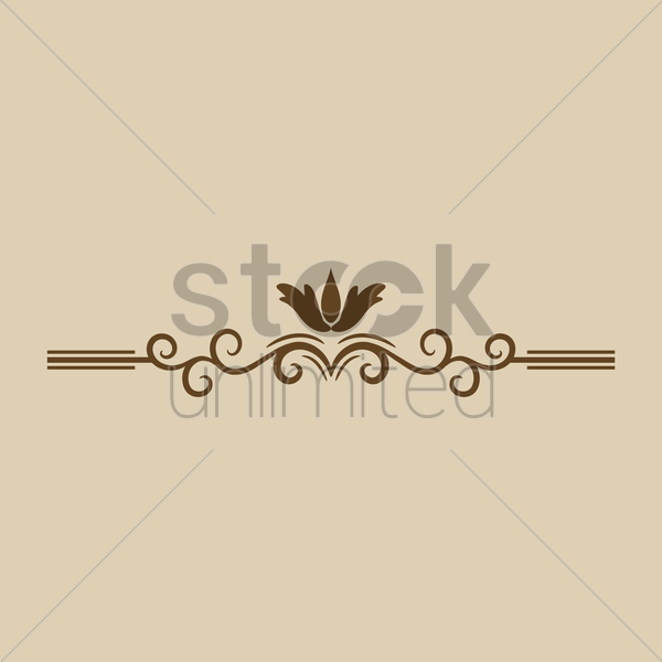 ornamental divider vector graphic