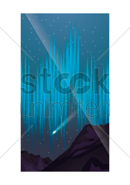 outer space wallpaper for mobile phone vector graphic