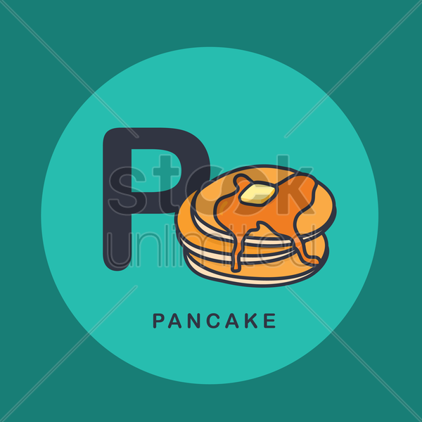Free p for pancake. vector graphic