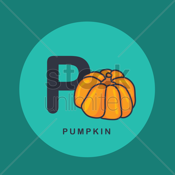 Free p for pumpkin. vector graphic