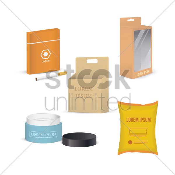 packaging icons vector graphic