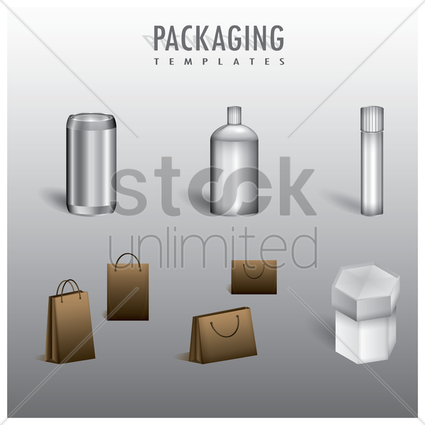 packaging templates collection vector graphic