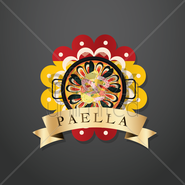 paella label vector graphic
