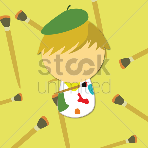 painter vector graphic