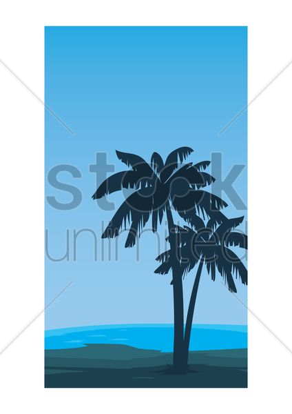 palm tree wallpaper vector graphic