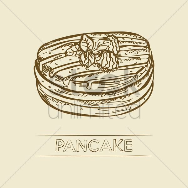 pancake vector graphic