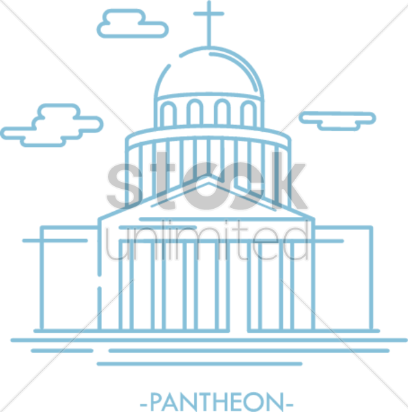 pantheon vector graphic