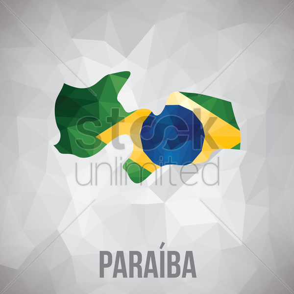 paraiba state map vector graphic