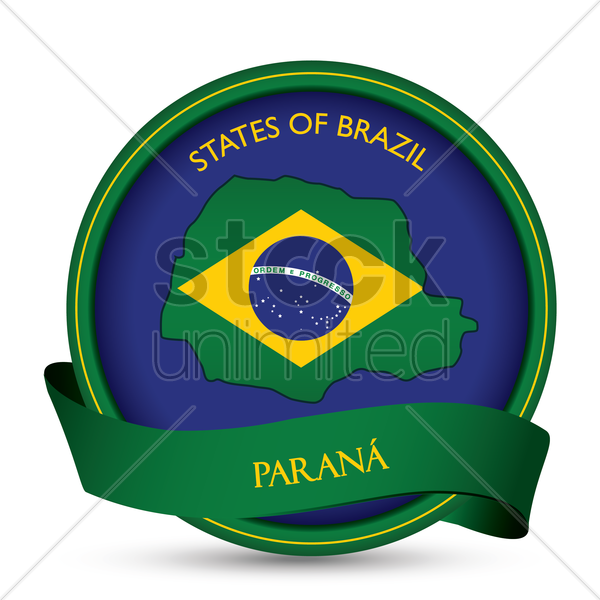 parana map label vector graphic