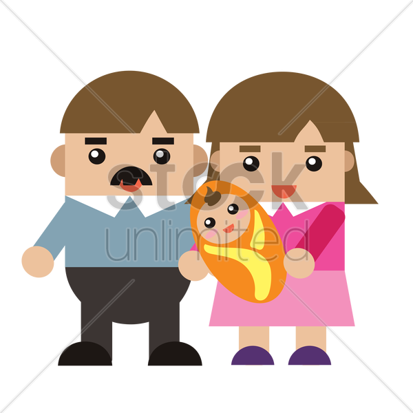 parent with a baby vector graphic