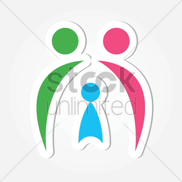 Free parent with a child logo vector graphic