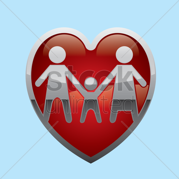 Free parent with a child vector graphic