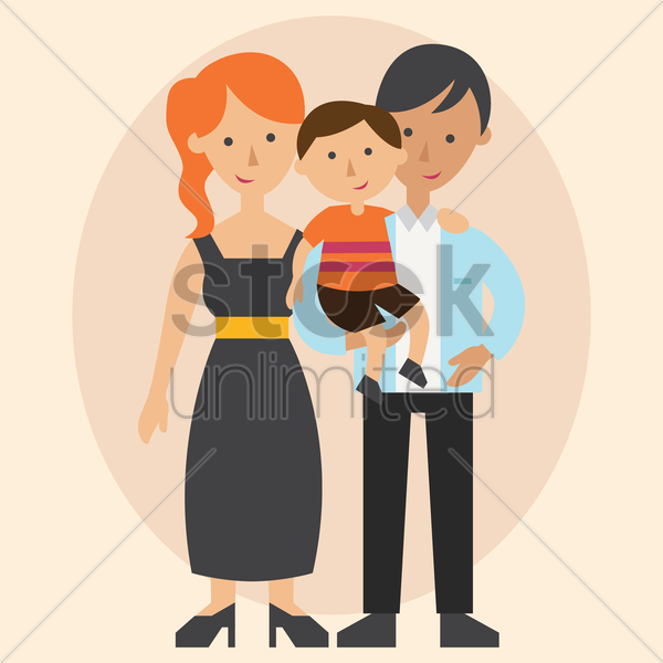 parent with a son vector graphic