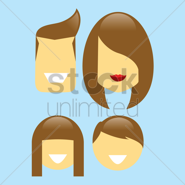 Free parent with children vector graphic