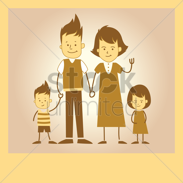 parent with children vector graphic
