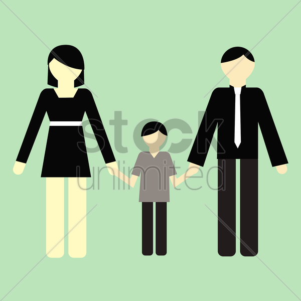 Free parent with son vector graphic