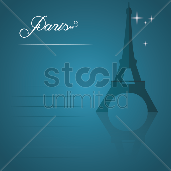 paris vector graphic