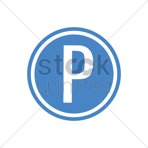 parking place road sign vector graphic