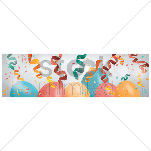 party banner vector graphic