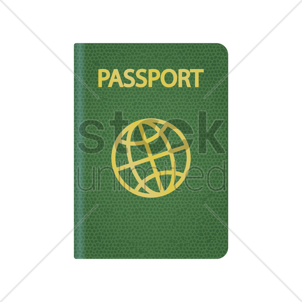 passport vector graphic