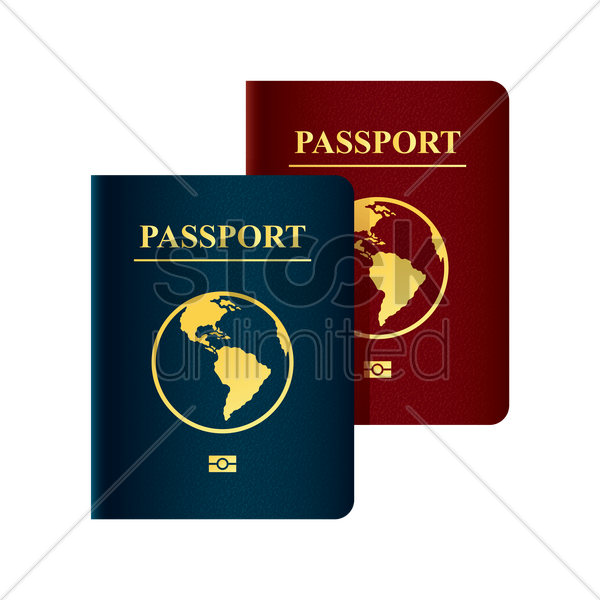 passports vector graphic