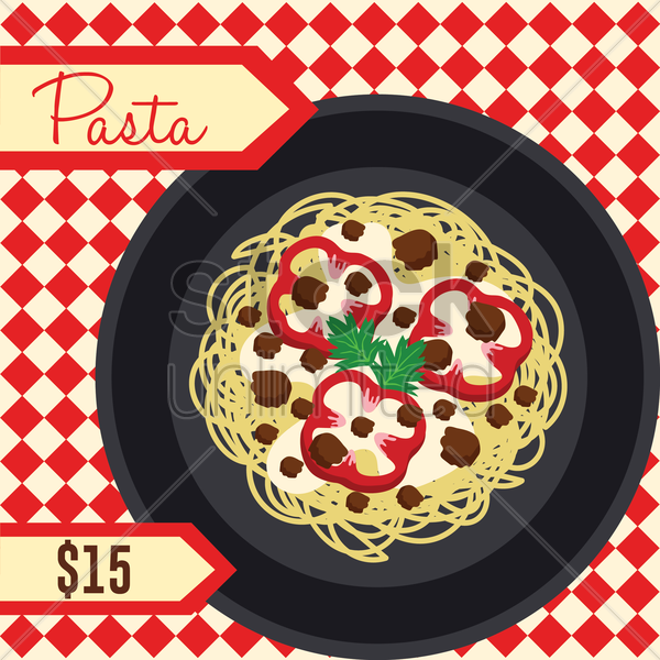 pasta menu vector graphic