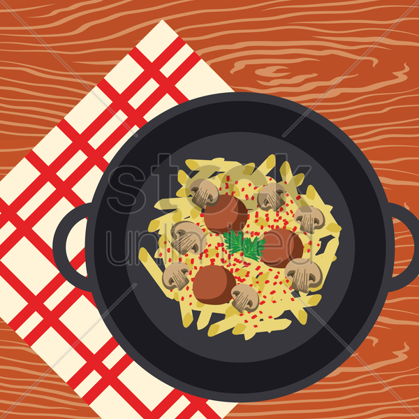 pasta vector graphic