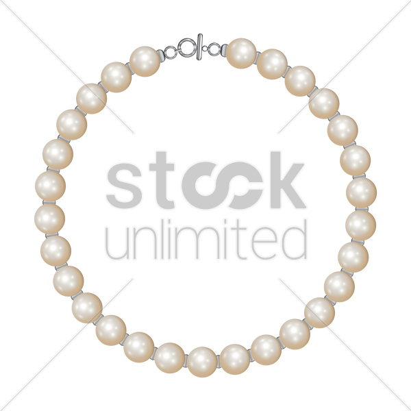 Pearl necklace Vector Image - 1684763 | StockUnlimited