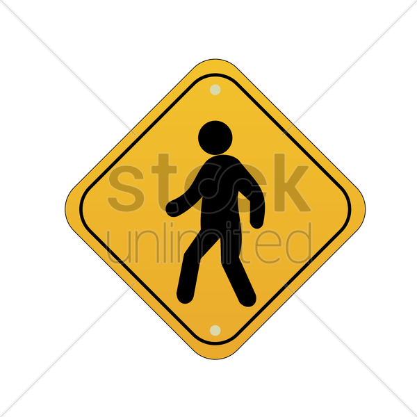 pedestrian crossing road sign vector graphic